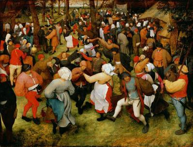 Brueghel lancien danse de noces en plein air v 1566