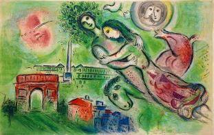 Chagall rome o et juliette